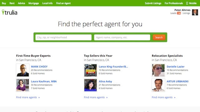 Trulia's Agent Directory Finds You a Trustworthy Real Estate Agent
