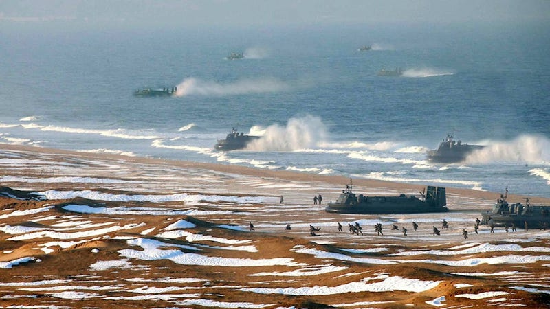 North Korea Caught Photoshopping Hovercrafts Into Its Propaganda