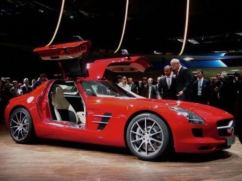 Mercedes SLS AMG: Live From Frankfurt, Finally!