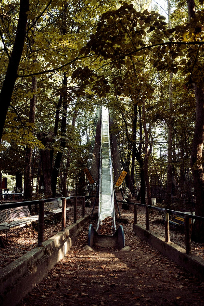 A Hand-Built Amusement Park in the Middle of the Italian Forest