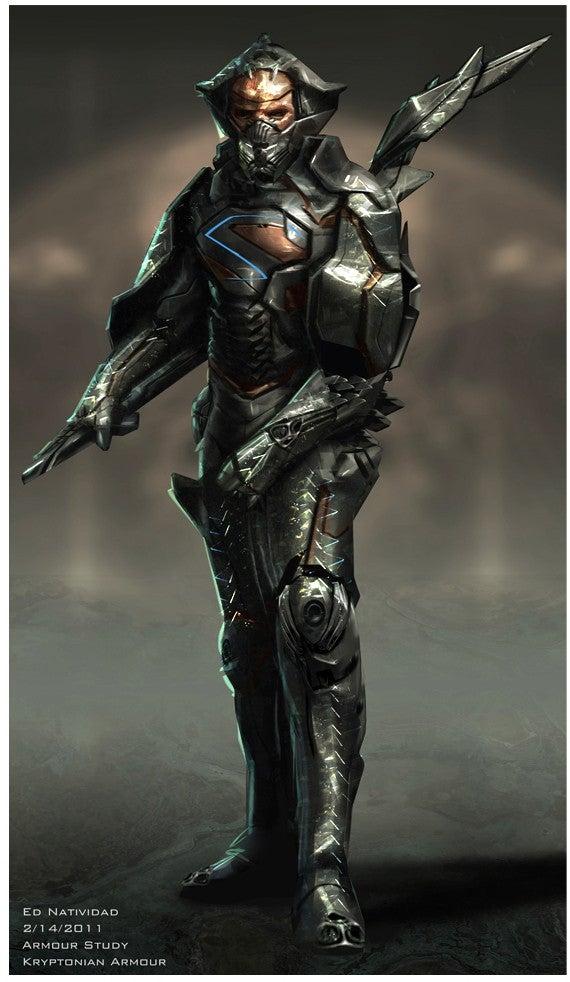 Man of Steel concept art puts Zod in more alien armor