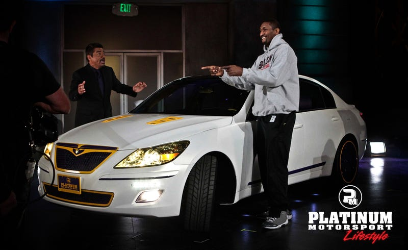 This hideous Hyundai is owned by Ron Artest