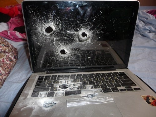Shot Up Laptop