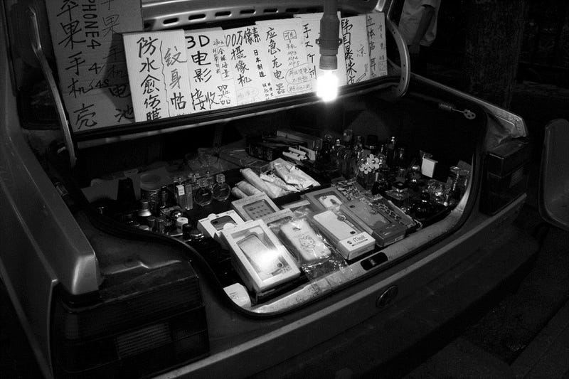 This Car's Trunk Is Open for Illegal Chinese Business