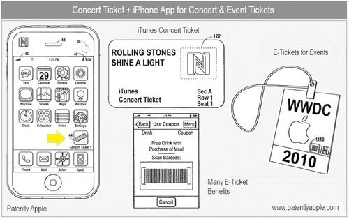 Apple Patent Shows Concert Ticket Scheme For Replacing Paper Tickets