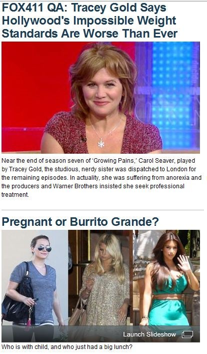 Anorexic, Pregnant, Or Burrito Grande? Fox News Has You Covered