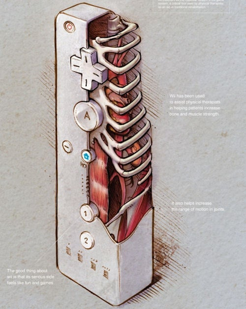 Nintendo Wii Anatomy Art Is Perfectly Twisted