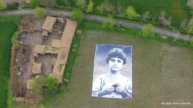 "Giant Portrait Shows Drone Operators That People Aren't ""Bug Splats"""