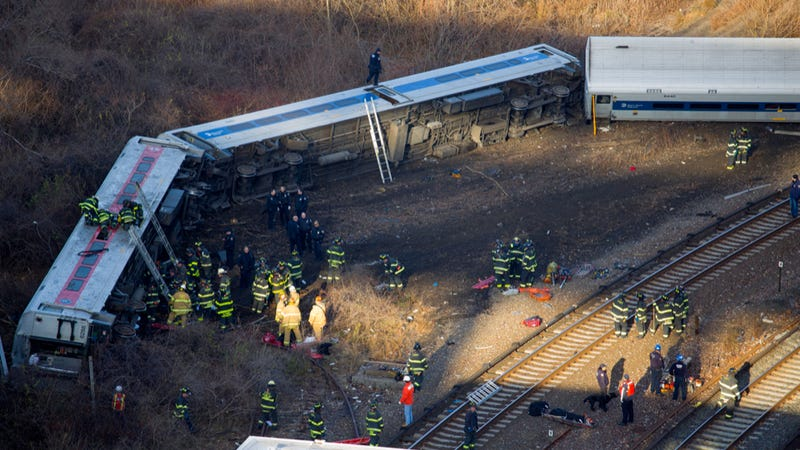 NTSB Says Derailed NY Train Was Going 82 MPH At Entrance To 30 MPH Zone
