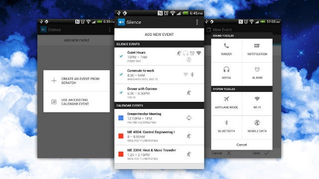 Silence for Android Integrates with Google Calendar, Adjusts Your Sound and Wireless Settings Automatically