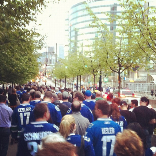 Vancouver Fans Quietly Shuffle Home Without Bothering Anyone