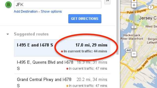 Google Maps' Driving Directions Just Got a Lot More Accurate, Now Factors in Current Traffic