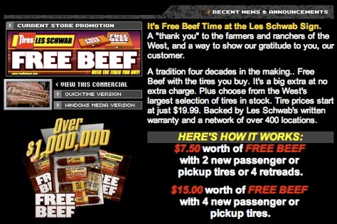 Free Beef With Tires! We Are Not Pulling Your Leg!