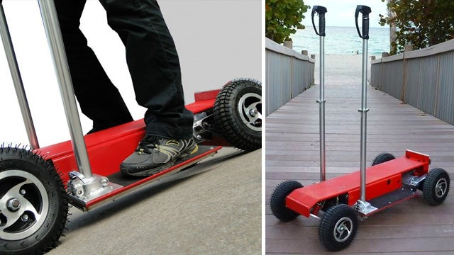 Four-Wheeled Personal Rover: A Segway For Cheapskates