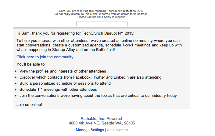 TechCrunch Says I Can't Come to Their Party Anymore