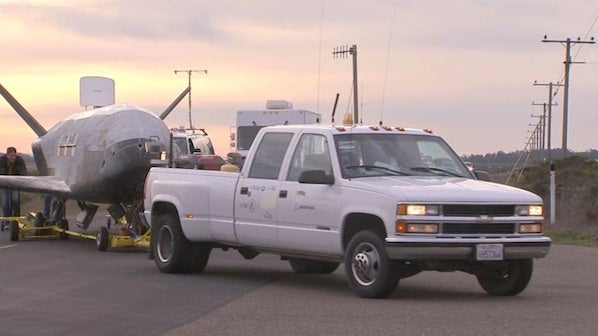 How To Tow A Top Secret Spy Plane With A Pickup Truck