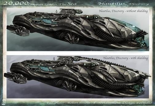 The Nautilus' Finest Hour, In 20,000 Leagues Concept Art