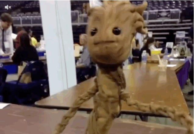 Dancing Groot Is Real! And He Dances!
