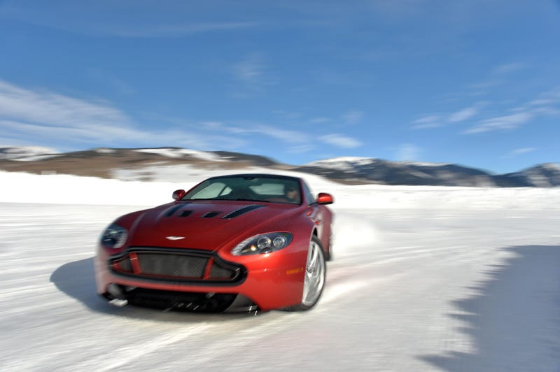 Aston Martin Just Built An Ice Track In Colorado And It's Glorious