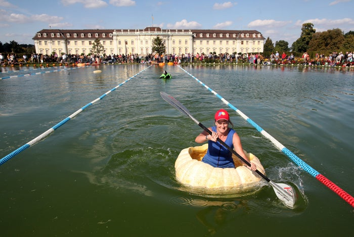 The Gigantic German Waterborne Pumpkin Race