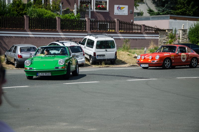 Photodump: A classic Porsche car meet.