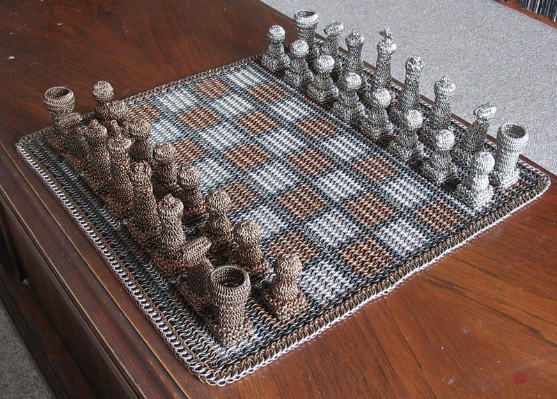 Chainmail Chess Set Is Suited For Battle