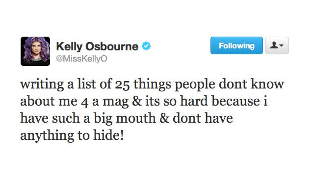 Loudmouth Kelly Osbourne Knows She's a Loudmouth