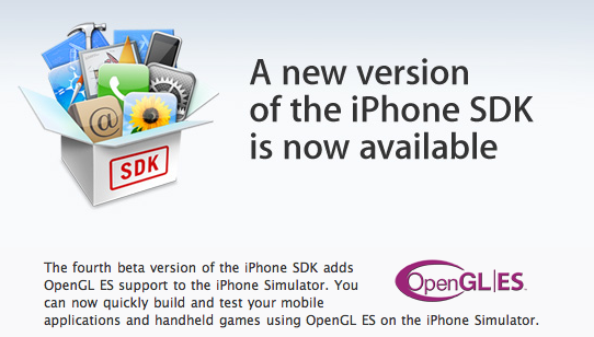 iPhone SDK Beta 4 Now Available, Comes with OpenGL ES 3D Graphics Support