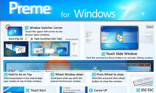 Preme Adds Unique Shortcuts to Windows 7
