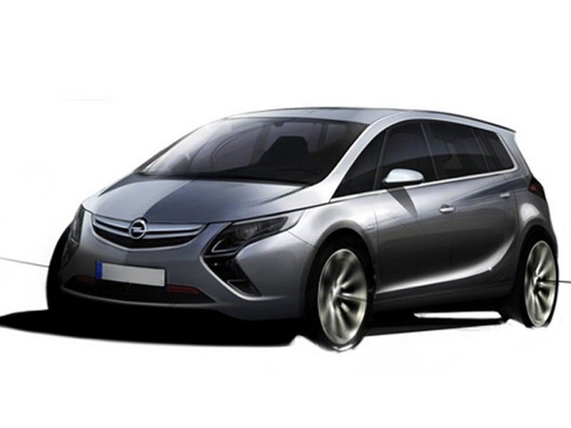 2011 Opel Zafira Sketch Revealed, Chevy Version Possible