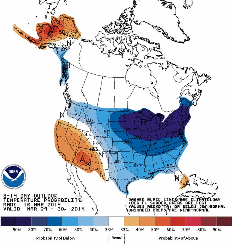 8-14 Day Temperature Forecast: Miserable