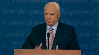 John McCain Curses at Debate!