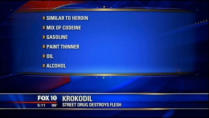 Flesh-Eating Drug Krokodil Finally Shows Up in the US