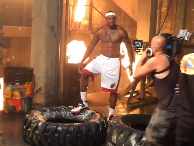 Here Are Some Clips Of LeBron And The Heat's Video Shoot To Laugh At