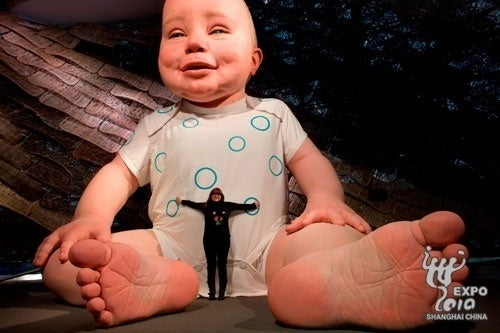 China's 21-Foot-Tall Baby Is Here to Creep Out the World