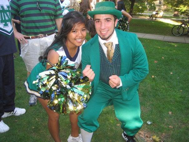 Notre Dame Fightin' Leprechaun Needs To Brush Up On His '80s Anthem Music