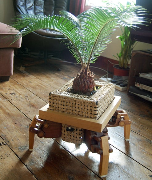 Robotic Legs Keep Your Plants Strutting Towards the Sunlight