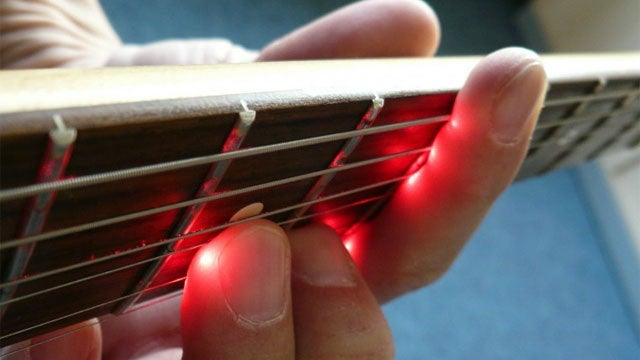Make Beautiful Music By Outfitting Your Guitar With Lasers
