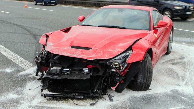 $330,000 Ferrari F12 Wrecked In Autobahn Crash
