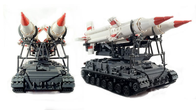 A Lego Soviet missile launcher that would make Khrushchev weep