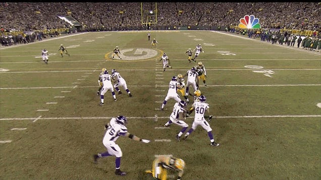 The Joe Webb Experiment Did Not Work: Vikings-Packers, In Two GIFs