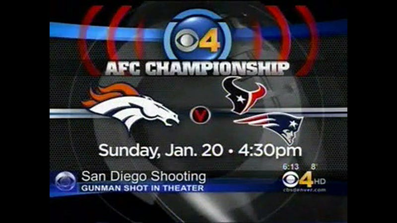 Denver's CBS Affiliate Seems Really Confused About Which Teams Are Playing In The AFC Championship