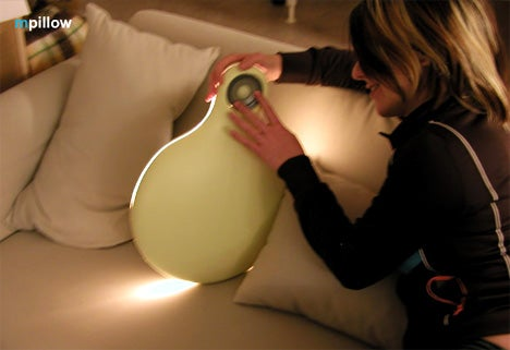 MPillow Concept Is Both Cushion, Light Show and MP3 Player