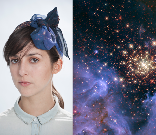 Dreamy scarves with NASA spaceporn printed directly on them