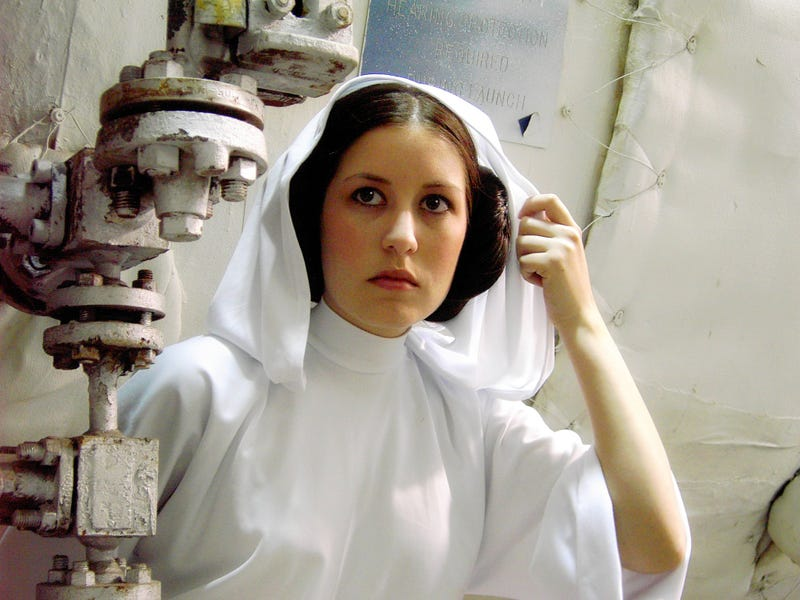 Elegant Princess Leia Cosplay for a More Civilized Age