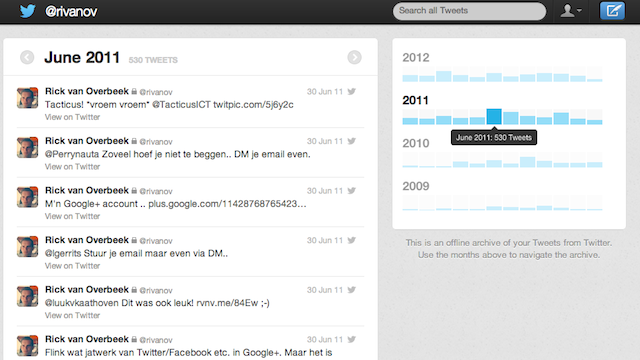 You Can Read Your Old Tweets with Twitter's New Archive, If You'd Like to Feel Bad About Yourself