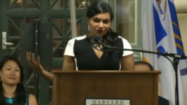 """Mindy Kaling at Harvard Class Day: 'You Will Defend BP from Birds"""""""