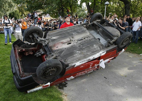 Austrian Sets New World Record For Car Flipping