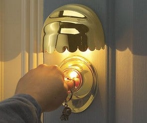 Sound Sensing Door Keyhole Light