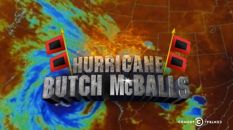 Colbert Solves Hurricane Gender Problem with 'Hurricane Butch McBalls'